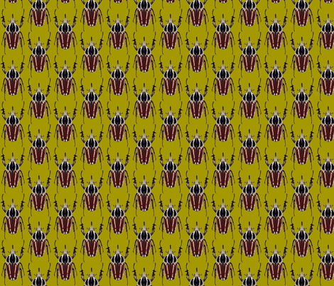 ugandensis beetle green fabric by weebeastiecreations on Spoonflower - custom fabric