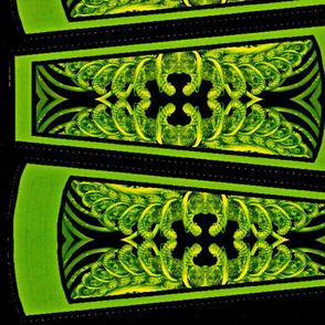 Green Corset skirt panels (green corset collection)