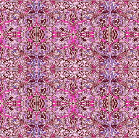 Paisley in Pink fabric by edsel2084 on Spoonflower - custom fabric