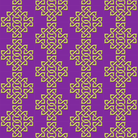Celtic Knotwork Purple small fabric by nezumiworld on Spoonflower - custom fabric