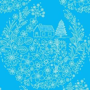 Flower Hunter Cottage - Seahorse Blue