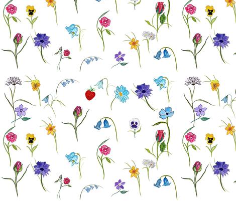 Fairytale Tea Dress Shop design fabric by de-ann_black on Spoonflower - custom fabric