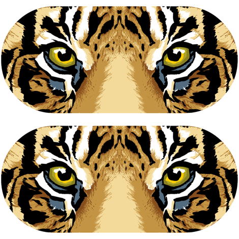 Tiger Eyepillow fabric by shiro on Spoonflower - custom fabric
