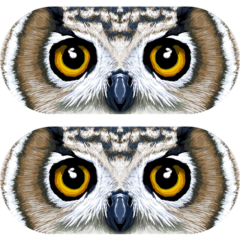 Owl Eyepillow fabric by shiro on Spoonflower - custom fabric