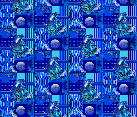 Dreams Come True On Blue Bayou fabric by whimzwhirled on Spoonflower - custom fabric
