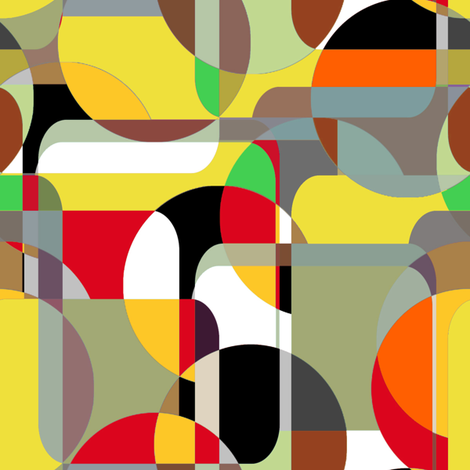 Danish Modern Sixities Vibe fabric by joanmclemore on Spoonflower - custom fabric