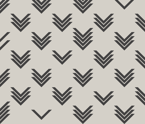 Varied Chevrons fabric by candyjoyce on Spoonflower - custom fabric