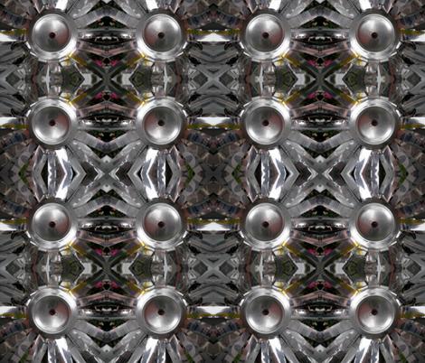 Aluminum Can Flower fabric by persimondreams on Spoonflower - custom fabric