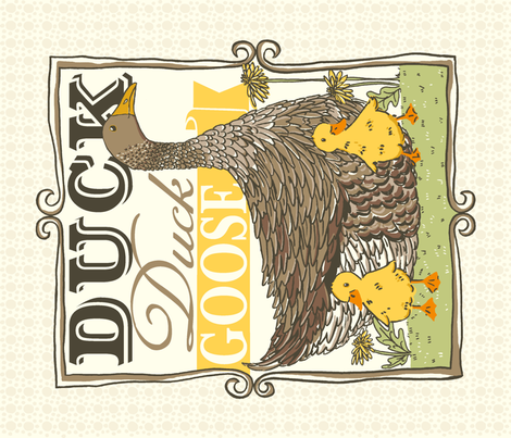 DUCK_duck_GOOSE_4 fabric by stacyiesthsu on Spoonflower - custom fabric