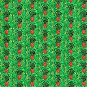 Tropical Pineapple Green & Orange Batiks