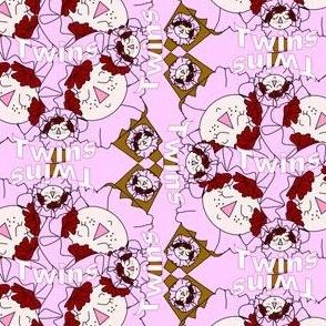 Twin Girls! Terra Head Group Fabric
