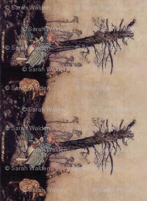 Alice & The Rabbit Border Print