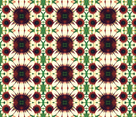 Cone Flower Magic fabric by persimondreams on Spoonflower - custom fabric