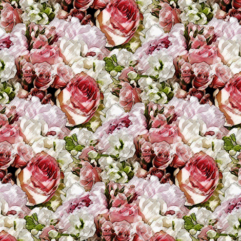 Lush Garden - Blush fabric by inscribed_here on Spoonflower - custom fabric