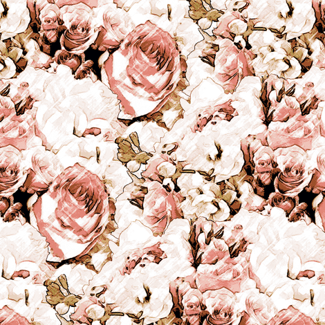 Lush Antique - Blush fabric by inscribed_here on Spoonflower - custom fabric