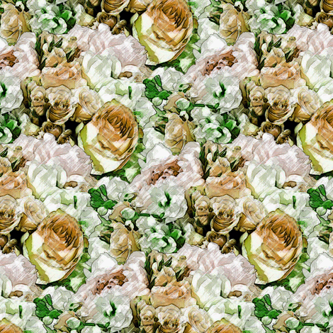 Lush Garden - Gold fabric by inscribed_here on Spoonflower - custom fabric