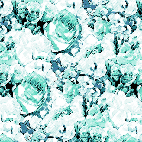 Lush Antique - Cool Mint fabric by inscribed_here on Spoonflower - custom fabric