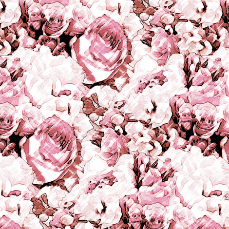 Lush Antique - Rose fabric by inscribed_here on Spoonflower - custom fabric