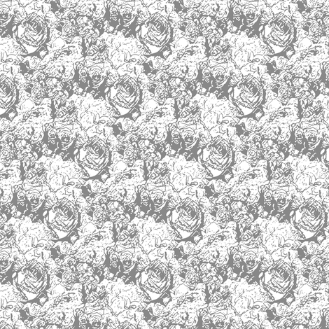 Lush Lines - Silver fabric by inscribed_here on Spoonflower - custom fabric