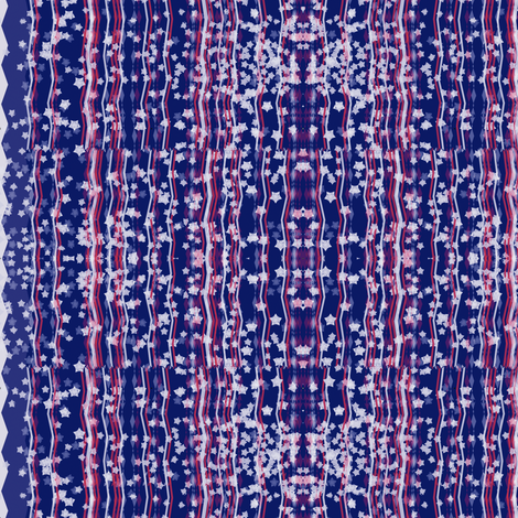 Stars and Stripes mirrored fabric by wordfabric on Spoonflower - custom fabric