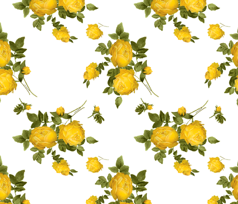 Pushing Daisies:  Chuck Dress fabric by risu on Spoonflower - custom fabric
