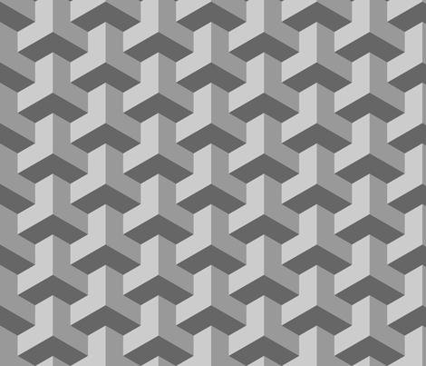 01259472 : chevron 3 x3 : grey fabric by sef on Spoonflower - custom fabric