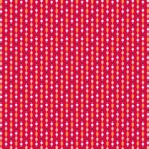 Retro Kitchen Red Bead Curtain