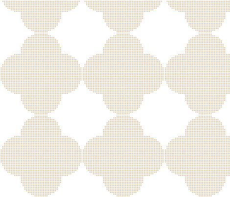 geometric wallpaper - brown fabric by gingerme on Spoonflower - custom fabric