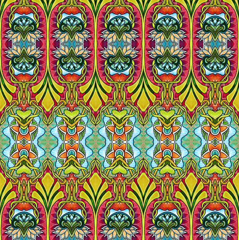 Afternoons at the Bazaar fabric by edsel2084 on Spoonflower - custom fabric