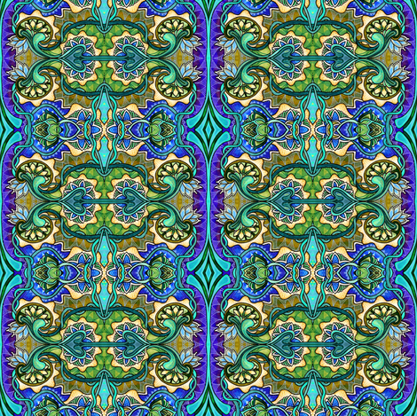 Enlist in the AquaMarines fabric by edsel2084 on Spoonflower - custom fabric