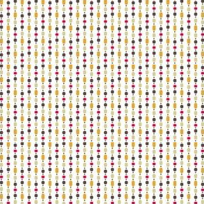 Retro Kitchen White and Red Bead Curtain