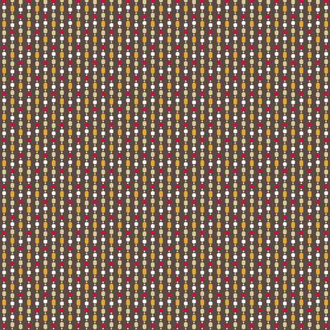 Retro Kitchen Brown and Red Bead Curtain fabric by inscribed_here on Spoonflower - custom fabric