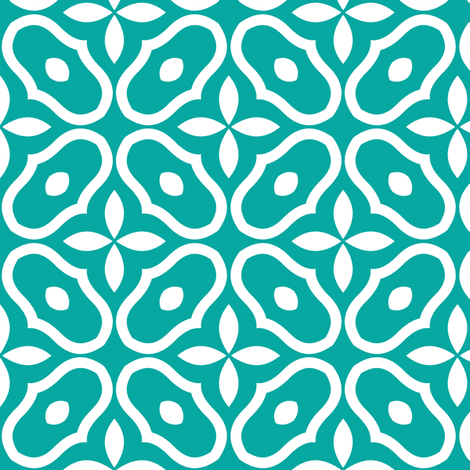 Mosaic - Retro Kitchen Jade fabric by inscribed_here on Spoonflower - custom fabric