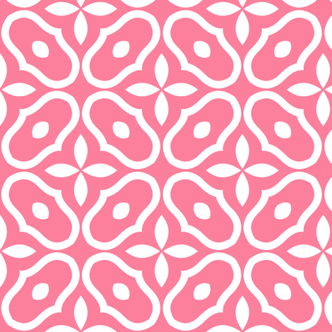 Mosaic - Berry Pink fabric by inscribed_here on Spoonflower - custom fabric