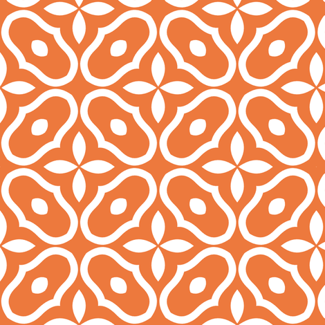 Mosaic - Orange fabric by inscribed_here on Spoonflower - custom fabric
