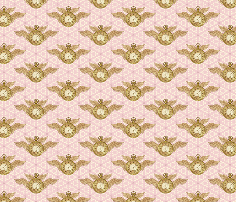 Tempus Fugit #2 fabric by maritcooper on Spoonflower - custom fabric