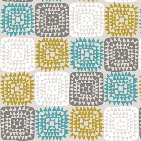 SQUARED_BLUE fabric by glorydaze on Spoonflower - custom fabric