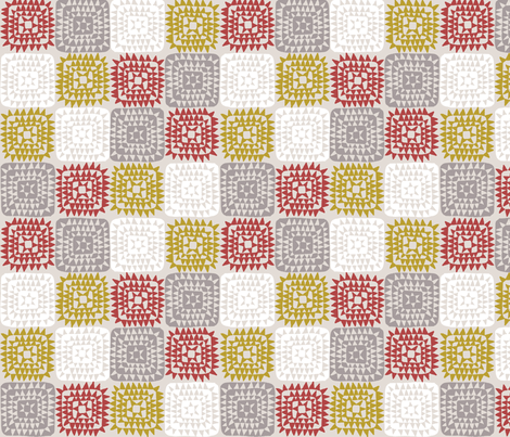 SQUARED_RED fabric by glorydaze on Spoonflower - custom fabric