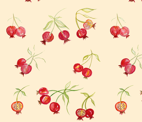 Pomegranates fabric by de-ann_black on Spoonflower - custom fabric