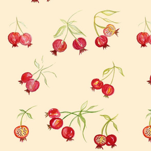 pomegranate fabric, wallpaper & gift wrap - Spoonflower