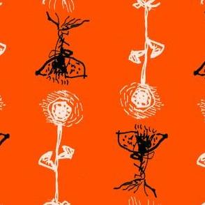 Ink flower orange