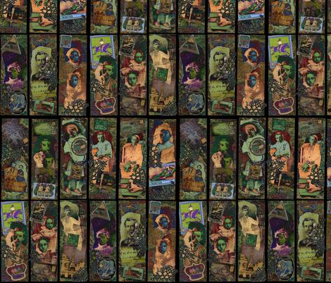 Adopted Ancestors (dark/inverted) fabric by jenithea on Spoonflower - custom fabric