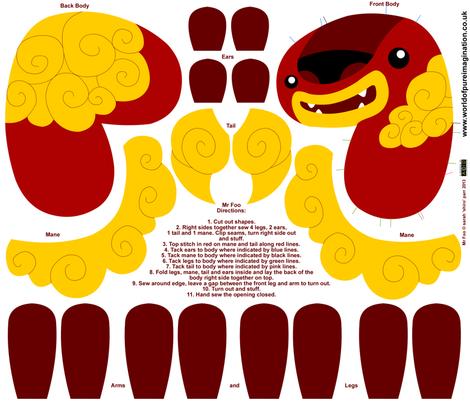 Mr Foo Doll fabric by shiro on Spoonflower - custom fabric