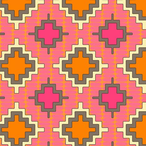 tangerine kilim fabric by scrummy on Spoonflower - custom fabric