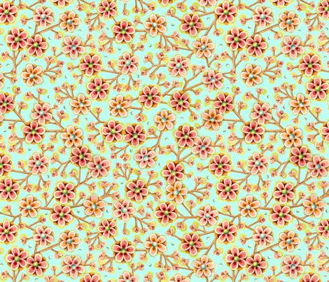 Candy Apple Blossom fabric by patriciasheadesigns on Spoonflower - custom fabric