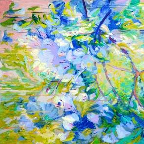 Azalea Garden Abstract Quilt Pattern