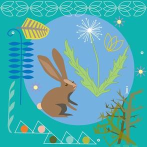 bunny-teal