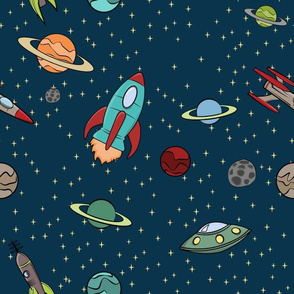 Retro Space Fabric