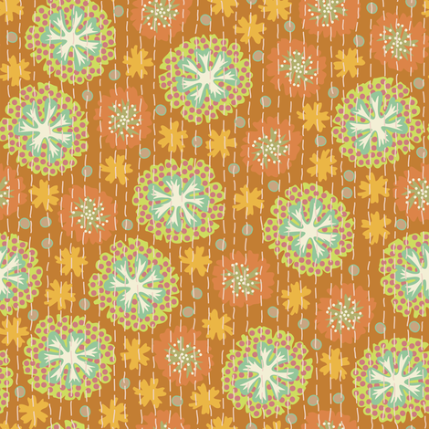 Kantha Floral 2 fabric by bee&lotus on Spoonflower - custom fabric