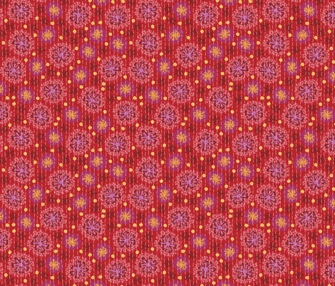 Kantha Floral 5 fabric by bee&lotus on Spoonflower - custom fabric
